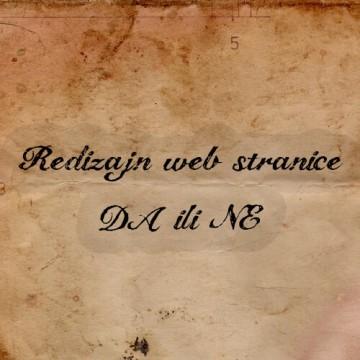 Redizajn web stranica ? Da ili NE