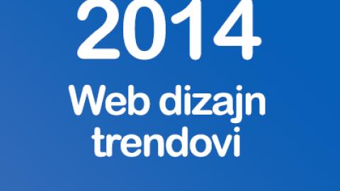 Novi trendovi web dizajna 2014